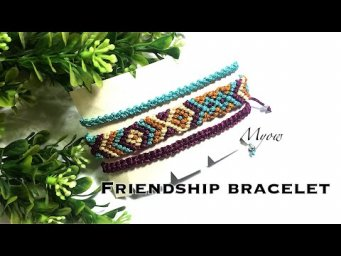 DIY CHEVRON AND DIAMOND FRIENDSHIP BRACELET - MYOW#113