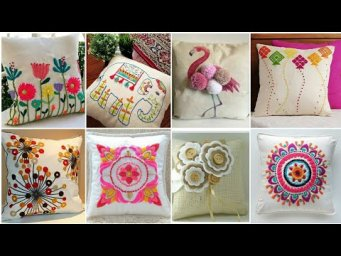 Beautiful hand embroidery design for Cushion Cover | Latest Cushion Cover design's ideas 2020
