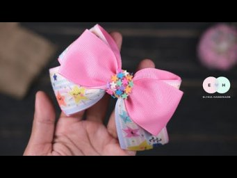 Easy simple hair bow tutorial for beginners - Hand embryodery ideas | Elysia Handmade