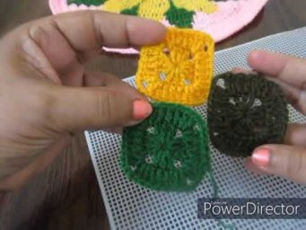 crochet square graney for shawl , sweater  part 1st