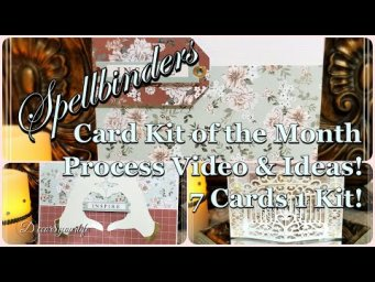 DIY Card Making Tutorial - 7 Cards 1 Kit Spellbinders Unboxing Card Kit of the Month | Heart Hands