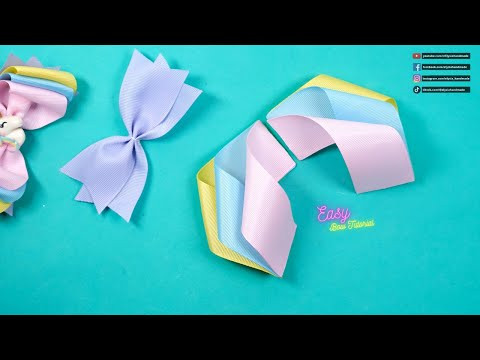 DIY Hair Accessories - Amazing Three Color Unicorn Bows - Elysia Handmade