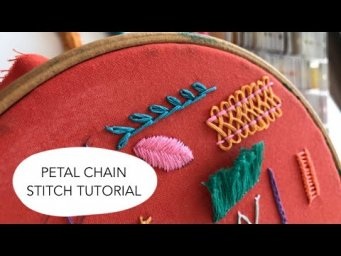 Hand embroidery for beginners - Petal chain stitch