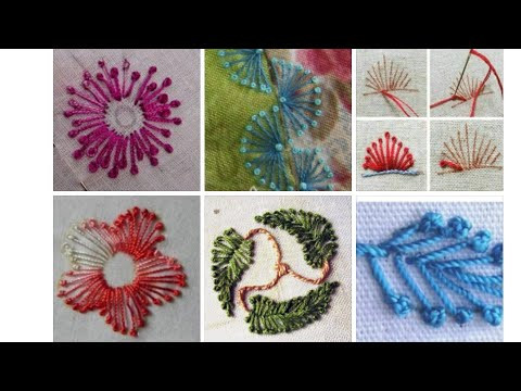 Pistil stitch embroidery tutorial
