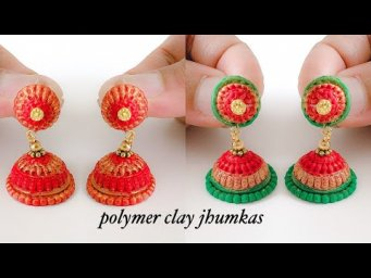 Innovative idea with polymer clay/Traditional jhumka making with polymer clay/Handmade Jhumkas
