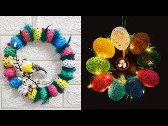 Best out of waste 2 Easter Wreath making idea step by step at home |DIY Low budget Easter décor idea