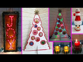 Economical 4 Easy Christmas Craft idea | Best out of waste Low budget Christmas craft idea (Part 7)