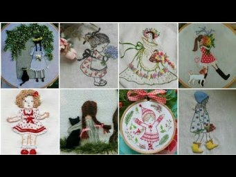Hand Embroidery Doll Design / girl embroidery / Hand embroidery design patterns / H H Creations
