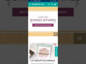 -15% sur les sets de tampons Stampin'up