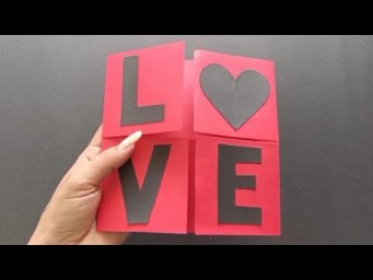 Love Card For Scrapbook||Love Card Tutorial||Love card For Scrapbook||Love card Tutorial