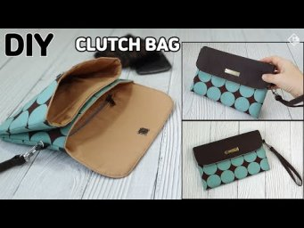 DIY MINI CLUTCH BAG/ Cute purse bag with Wrist strap/ sewing tutorials [Tendersmile Handmade]
