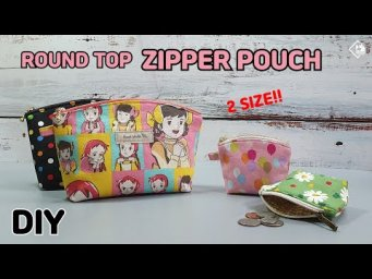 DIY ROUND TOP ZIPPER POUCH - 2 SIZE/ FREE PATTERN/ Coin purse/ sewing tutorial[Tendersmile Handmade]