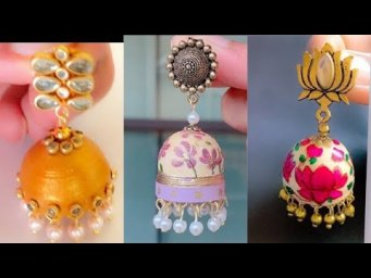 3 Beautiful Quilling Jhumkas Tutorial/How to make paper jhumkas in professional way easily at home