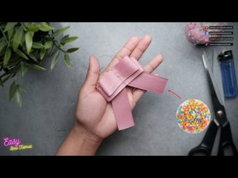 [ASMR] Ribbon Bows step by step - Simple bow with a sprinkling of stars #ElysiaHandmade