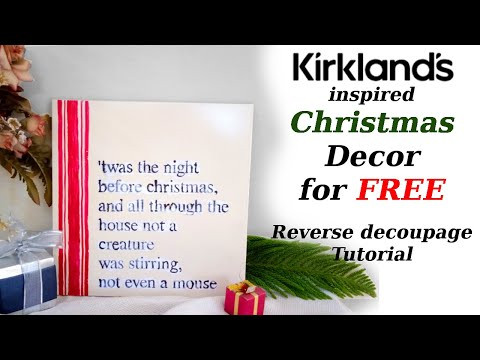 1/14 Days of Christmas DIY / Kirkland's inspired Christmas Decor / Trash to Treasure