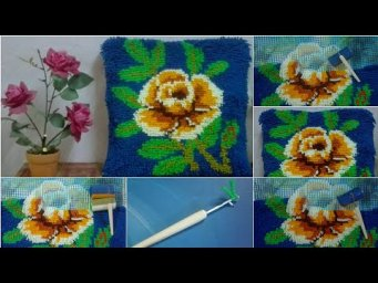 Handmade Cushions Design | Hand Work Cushions Cover Design | Latch Hook Flower Cushion Cover Design