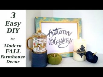 Minimal Modern Fall Farmhouse Decor DIY in Modern Colors / MomDas Life Handmade