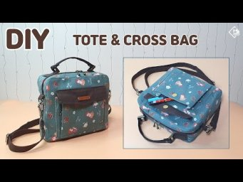 DIY SIMPLE MINI TOTE & CROSSBODY BAG/ Make a cloth bag / sewing tutorial [Tendersmile Handmade]