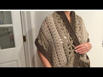 PART 1 Crochet pocket shawl