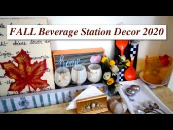 FALL Tea Coffee Beverage Bar Station Farmhouse Decor Collaboration 2020 / MomDas Life Handmade