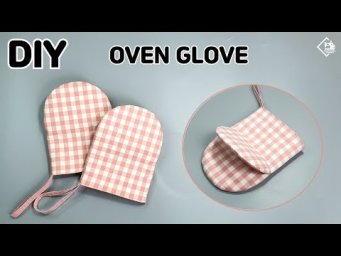 DIY How to make oven mitts / Oven Glove / free pattern / sewing tutorial [Tendersmile Handmade]