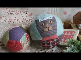 (무료패턴) 퀼트 장난감공 만들기 │ Patchwork Soft Toy Ball │Free Pattern │ How To  Make DIY Crafts Tutorial