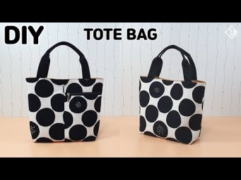 DIY SIMPLE TOTE BAG/ Make a Hand bag/ Daily bag/ sewing tutorial [Tendersmile Handmade]