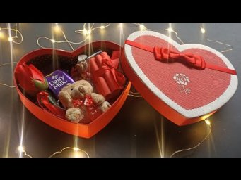 Valentine's Day Special sweet Box || Heart shape box For Valentine's Day || Full Tutorial