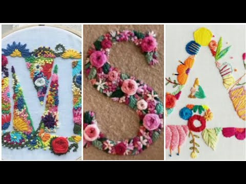 10 Hand Embroidery Letters for beginners / Alphabet embroidery / embroidery design patterns / H H C