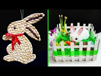 2 Easy Easter craft made with waste materials step by step at home |DIY Low budget Easter décor idea