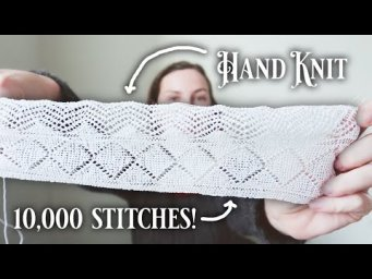 10,000 Stitches of Knit Lace for 10,000 Subscribers!
