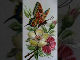 Hand Embroidery 3D flower embroidery design / Brazilian Embroidery / Heavenly Handmade Creations