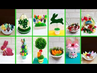 DIY-12 Economical Easter Craft made with waste materials |DIY Low budget Easter/spring decor idea