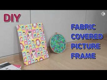 DIY How to Make a Fabric Covered Picture Frame/ interior accessories/ sewing/ [Tendersmile Handmade]