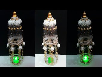 DIY-Showpiece/Tealight holder made from waste Plastic Bottle| DIY home decoration ideas