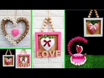 4 Economical Valentine craft idea made with recycled material at home| DIY valentine day Craft ideas