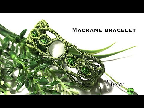 MACRAME BRACELET | MACRAME WITH A STONE AND BEADS| MYOW 269
