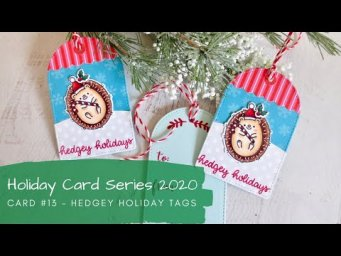 Holiday Card Series 2020 #13 | Copic Coloring Gift Tags | Sunny Studio Stamps