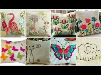 Beautiful Hand Embroidery Work Cushion Cover Design Ideas 2020