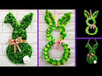 2 Easy Economical Easter wreath made with waste materials | DIY Low budget Easter/Spring décor idea