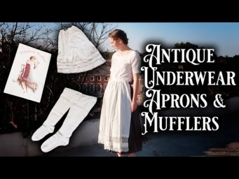 Victorian Antique Clothing Haul - Historical Underwear, Stockings & other Knits!