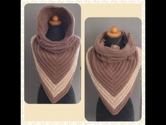 *3 in 1.. Super Easy Shawl with Infinity Scarf and Hood *Beginner friendley