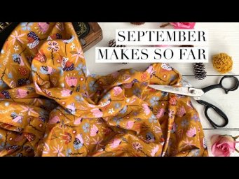 September makes. The Zebre top including a pattern hiccup to watch out for and more fabric scraps.