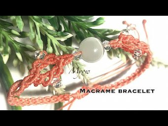 MACRAME SIMPLE BRACELET WITH CRYSTAL AND STONE - MYOW 194