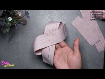 [ASMR] Ribbon Bows step by step - Pretty simple butterfly ties #ElysiaHandmade