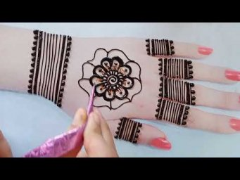 Beautiful Gol Tikki Mehndi Design For Eid_Stylish Mehndi Design For Back Hand_Henna Design