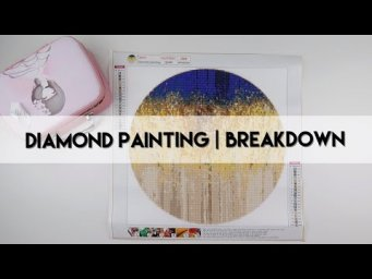 Diamond Painting - Breakdown & Completed | Circle