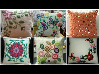 Latest Cushion Cover Designs / Pillow Cover Design Ideas / Heavenly Handmade Creations