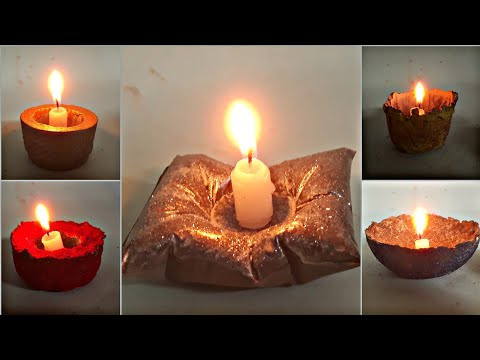 Cement Craft Ideas Diya Making With Cement And Paper Diwali Diya Decoration Ideas Handmade Video