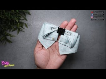 DIY Creative Art | Beautiful Ribbon Bow Ties - Elysia Handmade